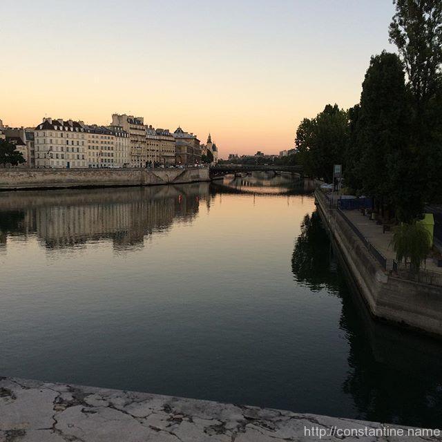 The Seine at dawn